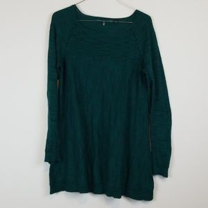 Knitted & knotted forest green tunic sweater